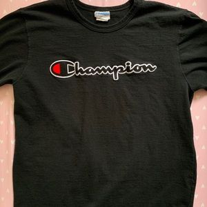 XL Mens black t-shirt by Champion